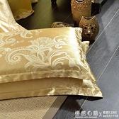 枕套一對裝2只 枕頭套貢緞提花單件學生宿舍單雙人48*74 怦然心動