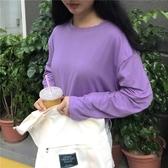 2018春秋裝新款韓版慵懶風長袖T恤女學生寬鬆早秋上衣