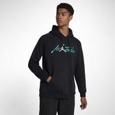 Nike Jordan Sportswear Greatest Jumpman 黑蒂綠 刷毛 帽T 男 (布魯克林) 2018/10月 AV6006-010