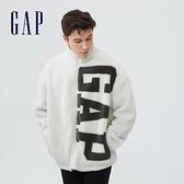 Gap男女同款 Logo仿羊羔絨外套 735030-白色