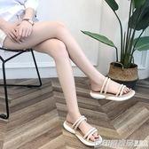 2018新款運動拖鞋女夏外穿時尚百搭韓版平底厚底網紅兩穿涼拖涼鞋  印象家品旗艦店
