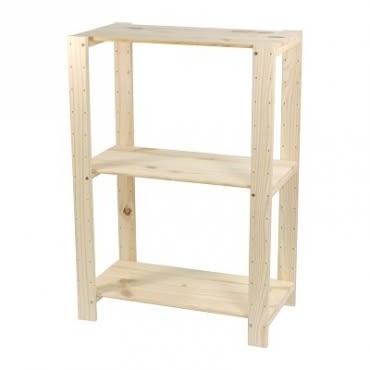 特力屋 PRO特選 松木可調整三層架 32x59x85cm