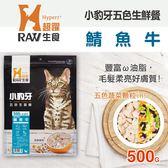 【毛麻吉寵物舖】HyperrRAW超躍 小豹牙五色生鮮餐 鯖魚牛口味 500克