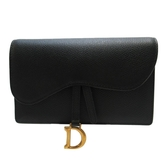 Dior 迪奧 黑色牛皮磁釦Logo馬鞍腰包 Saddle Belt Pouch Clutch Bag【BRAND OFF】