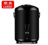 商用奶茶桶304不銹鋼冷熱雙層保溫保冷湯飲料咖啡茶水豆漿桶10L 台北日光