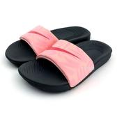 NIKE KAWA SLIDE PRINT(GS/PS) 輕量 運動 休閒拖鞋《7+1童鞋》F803 粉色
