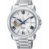 【台南 時代鐘錶 SEIKO】精工 Premier 典雅羅馬時標機械錶 SSA369J1@4R39-00S0S 白 43mm