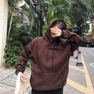 【GZ2C1】長袖帽T 加絨加厚寬鬆原宿...