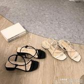 夏季女裝涼鞋時尚超好穿綁帶韓版低跟休閒鞋潮   歌莉婭