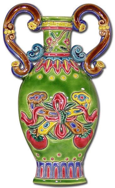 鹿港窯-居家開運商品-台灣國寶交趾陶裝飾壁飾-立體框【L 平安如意】