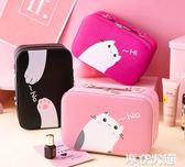 化妝包小號便攜可愛女大容量品網紅ins風超火收納盒箱手提隨身袋『潮流世家』