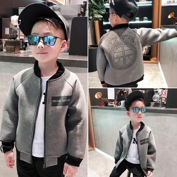 男童外套 小童裝男童洋氣加絨刷毛外套秋裝夾棉夾克新款兒童棒球服寶寶秋冬