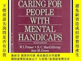 二手書博民逛書店Hallas 罕見Caring For People With Mental Handicaps-哈拉斯精神殘疾人
