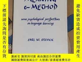 二手書博民逛書店Memory罕見Meaning & Method:some Psychological Perchiues on