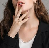 可調節開口星星戒指女飾品指環個性潮人大氣日韓簡約學生食指戒子 東京衣櫃