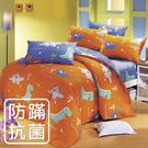 【鴻宇HONGYEW】美國棉/防蹣抗菌寢具/台灣製/雙人四件式薄被套床包組-189608
