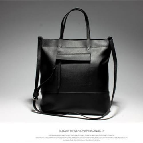 【O-ni O-ni】韓版真皮時尚潮流側肩包JDL-4-165黑色