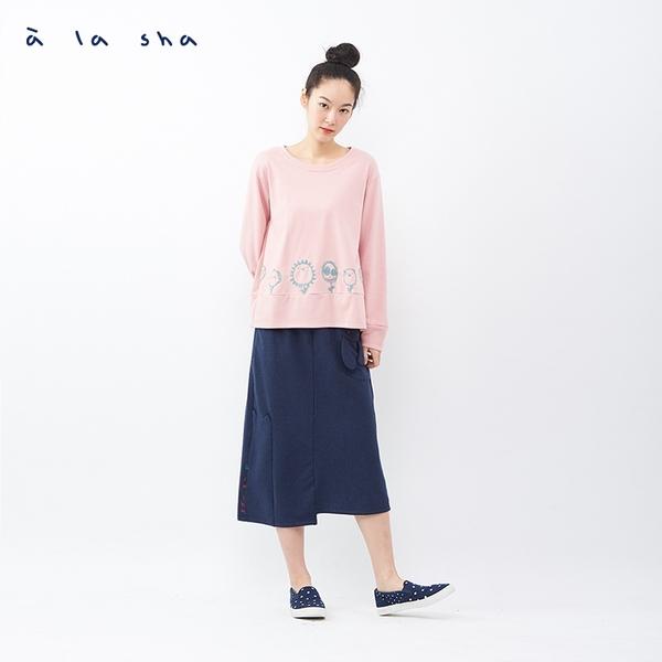 a la sha 貓貓兔兔躲貓貓中長裙