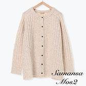 「Hot item」圓領厚實針織開襟罩衫/上衣 (提醒 SM2僅單一尺寸) - Sm2
