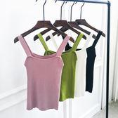 無袖吊帶上衣女夏季新款簡約螺紋港味復古修身顯瘦針織小背心