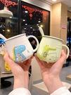 馬克杯 帶勺潮流創意陶瓷杯學生帶手柄家用馬克杯牛奶喝水杯子帶蓋咖啡杯 晶彩