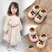 嬰兒學步單鞋女春秋季寶寶鞋子公主軟底透氣鞋【淘嘟嘟】