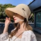 帽子女夏天韓版遮陽防紫外線遮臉防曬帽夏季日系出游遮臉新款帽子