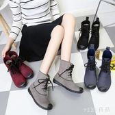 中大尺碼雨鞋 時尚防水鞋雨靴短筒低幫女韓版成人膠鞋防滑中筒水靴 nm21090【VIKI菈菈】