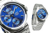 MTP-1246D-2A 卡西歐 CASIO 三眼錶 不銹鋼 亮藍色面 37mm 男錶 時間玩家