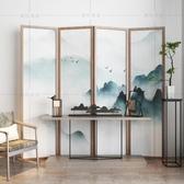 中式屏風現代隔斷折屏玄關臥室客廳餐廳茶樓酒店折疊屏風雙面隔斷