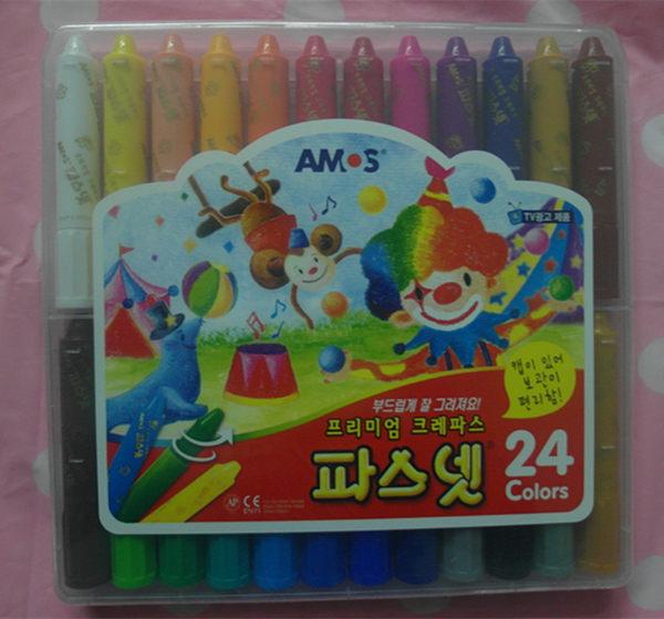 *妮好快樂*韓國AMOS無毒兒童專用水蠟筆24色