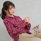 【慢。生活】文藝碎花木質釦棉質襯衫 997-1 FREE 紅色