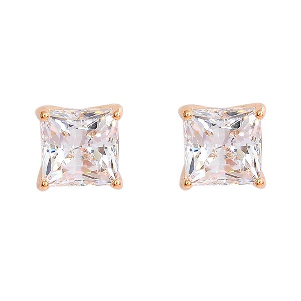 SWAROVSKI 施華洛世奇 ATTRACT璀璨水晶方型玫瑰金耳環