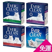 寵物家族-【單盒免運】EVER CLEAN藍鑽貓砂盒裝25磅(11.3KG)