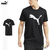 Puma Heather 男 灰 運動上衣 短袖 吸濕 排汗 透氣 運動 健身 跑步 上衣 51838202