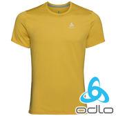 ODLO 瑞士 男 疾速快乾輕量圓領短袖T恤『黃咖哩』550442 T恤 休閒 戶外 登山 露營 短袖 排汗 快乾