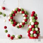 ins羊毛氈迷你聖誕樹裝飾桌面擺件聖誕花環裝飾品【南風小舖】