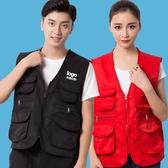工作服馬甲定制印logo 工裝裝飾義工活動攝影多口袋背心印字定做