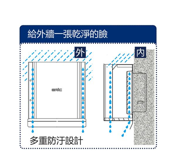 """[ 家事達 ]ERIC-PQ114A 304不銹鋼 平板亮面 導流通氣罩 有頸 (5"""") 特價"""