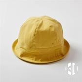 漁夫帽嬰幼兒童防曬遮陽帽子男女童寶寶棉布盆帽親子帽【Kacey Devlin】
