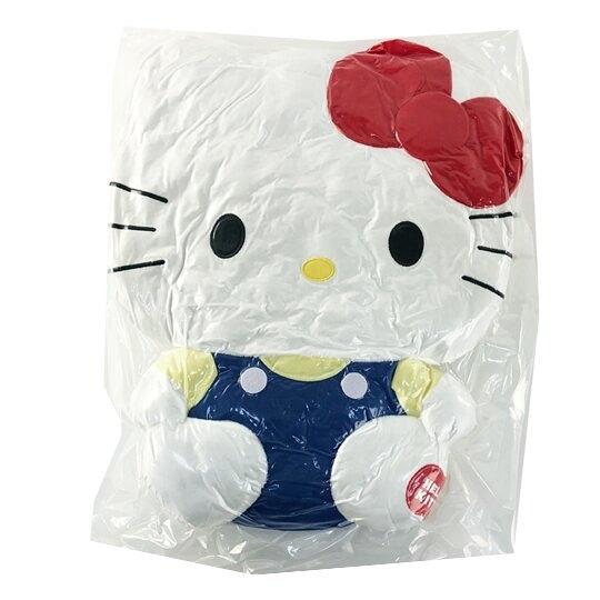 小禮堂 Hello Kitty 絨毛玩偶 絨毛娃娃 大型玩偶 絨毛靠枕 (L 藍吊帶褲) 4983164-78473