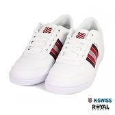 K-SWISS 新竹皇家 Court 白色 皮質 紅線條 休閒鞋 男款 NO.B0331