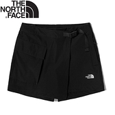 【The North Face 女 褲裙《黑》】4UCH/休閒短褲/褲裙/運動短褲