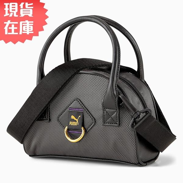 【現貨】PUMA Time Mini 手提包 斜背包 迷你包 休閒 黑【運動世界】07794601