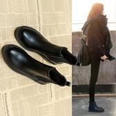 馬丁靴 年新款秋款馬丁加絨瘦瘦百搭切爾西小短靴子女鞋秋冬季英倫風  維多