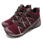 Merrell 戶外鞋 Siren Hex Q2 Mid E-Mesh GTX 紅 咖啡 Gore-Tex 防水 透氣 休閒鞋 運動鞋 女鞋【PUMP306】 ML42908