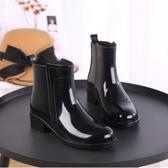 雨鞋女短筒韓國可愛成人膠鞋時尚款外穿水鞋雨靴防水套鞋加絨保暖