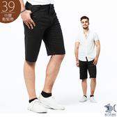 【NST Jeans】日系昭和感 咖啡迷宮印花 鬆緊帶短褲(中腰鬆緊修身版) 390(9499)