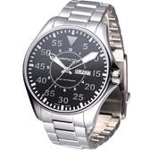 HAMILTON Khaki 航空飛行自動機械腕錶 H64715135 黑色【寶時鐘錶】