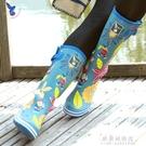 雨鞋 雨靴女成人水鞋套防滑橡膠靴子時尚高筒雨鞋 女【果果新品】